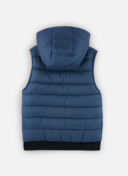 Vêtements IKKS JUNIOR  Doudoune SM réversible XQ41083 Bleu vue bas / vue portée sac