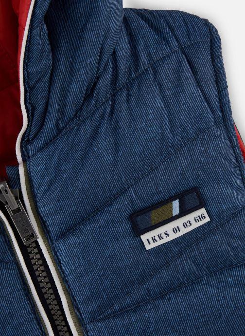 Vêtements IKKS JUNIOR  Doudoune SM réversible XQ41083 Bleu vue portées chaussures