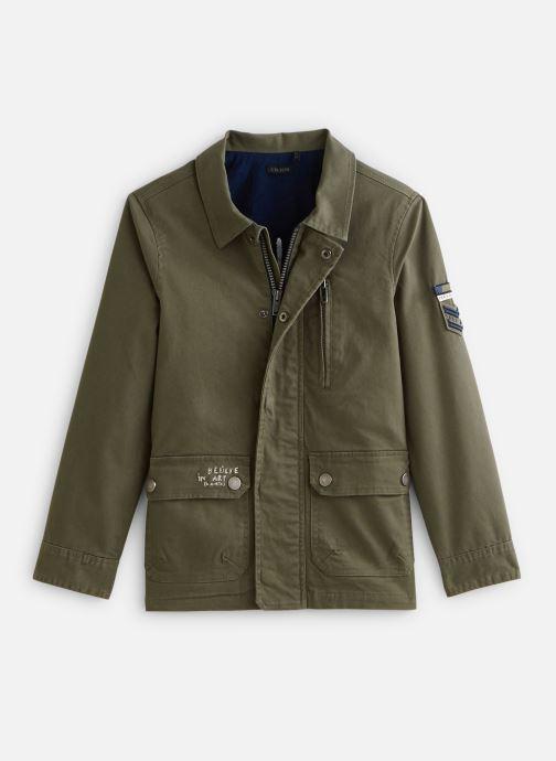Vêtements IKKS JUNIOR  Veste saharienne XQ42003 Vert vue détail/paire