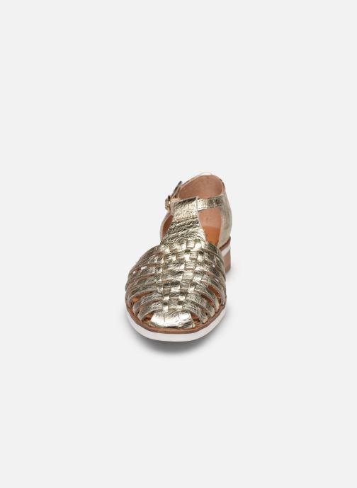 Ballerines Karston JIMINI Or et bronze vue portées chaussures