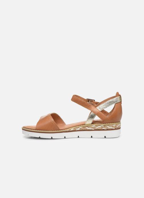 Sandales et nu-pieds Karston KILGUM Marron vue face