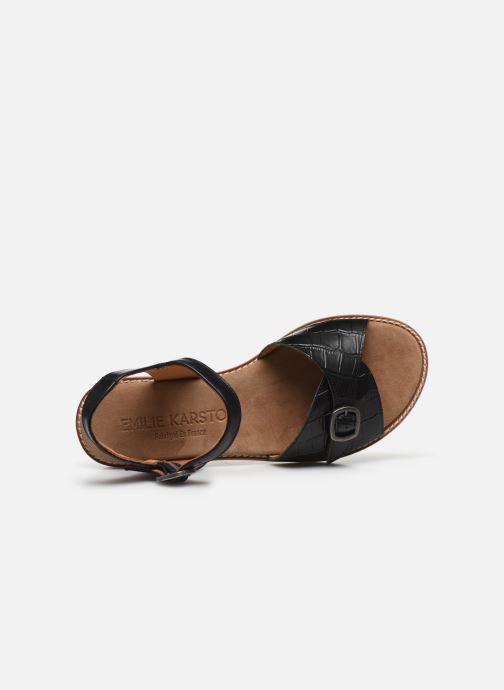 Sandali e scarpe aperte Karston XABER Nero immagine sinistra