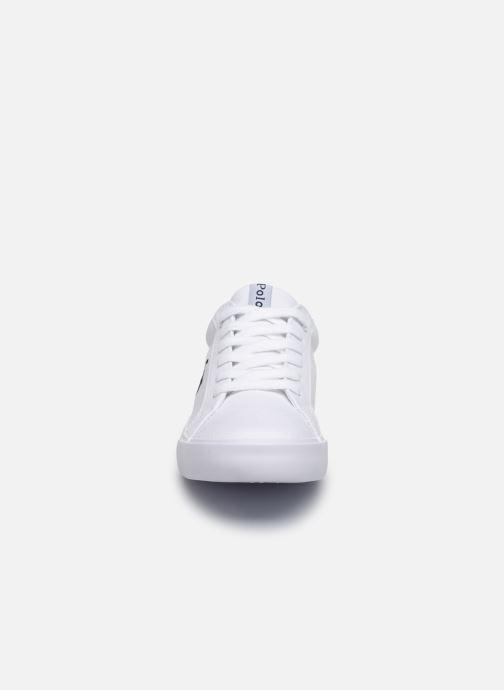 Baskets Polo Ralph Lauren Evanston Blanc vue portées chaussures