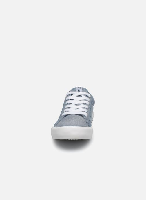 Baskets Polo Ralph Lauren Evanston Bleu vue portées chaussures