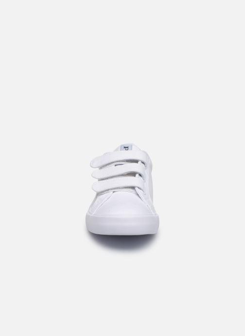 Baskets Polo Ralph Lauren Evanston Ez Blanc vue portées chaussures