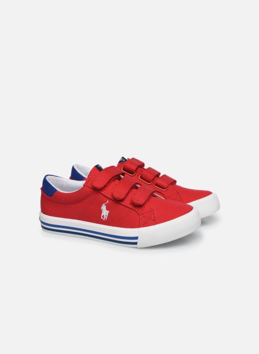Baskets Polo Ralph Lauren Evanston Ez Rouge vue 3/4