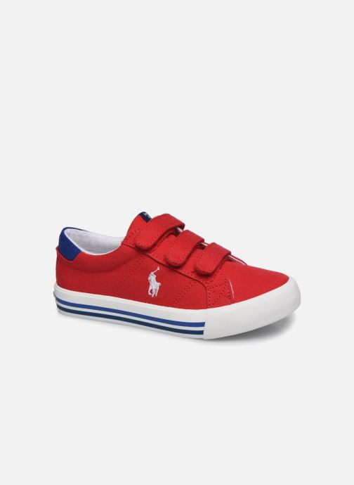 Baskets Polo Ralph Lauren Evanston Ez Rouge vue détail/paire