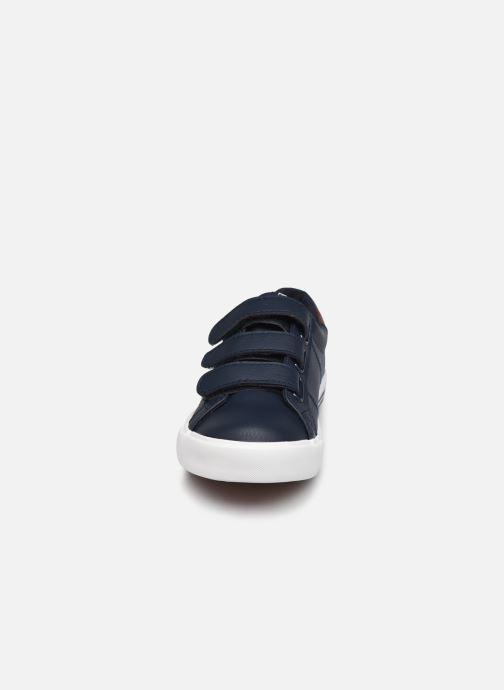 Baskets Polo Ralph Lauren Evanston Ez Bleu vue portées chaussures