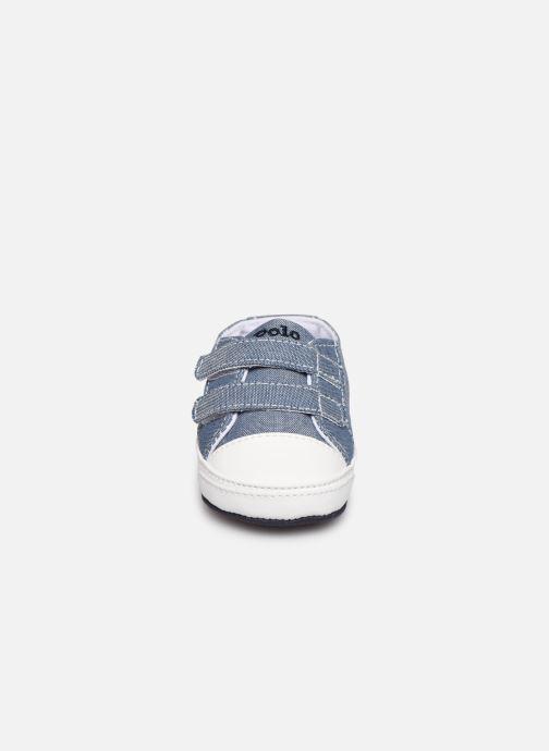 Baskets Polo Ralph Lauren Danyon Ez Layette Bleu vue portées chaussures