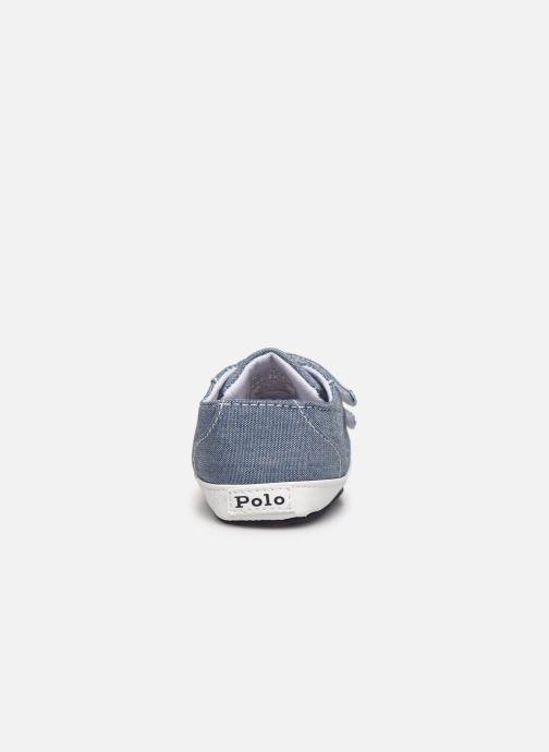 Baskets Polo Ralph Lauren Danyon Ez Layette Bleu vue droite