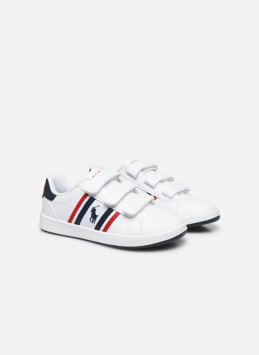 Baskets Polo Ralph Lauren Oaklynn Ez Blanc vue 3/4