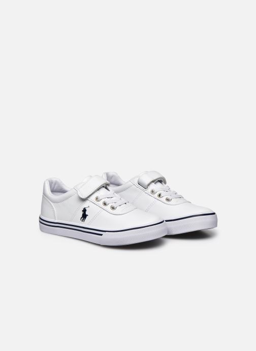 Baskets Polo Ralph Lauren Hanford III Ps Blanc vue 3/4