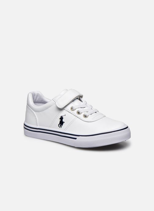 Baskets Polo Ralph Lauren Hanford III Ps Blanc vue détail/paire