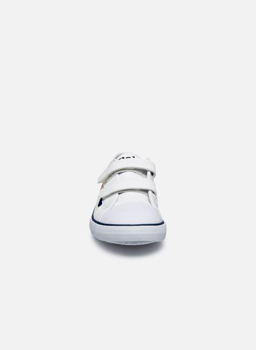 Baskets Polo Ralph Lauren Danyon EZ Blanc vue portées chaussures