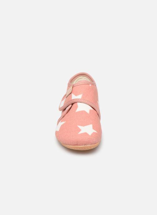 Pantoffels Living Kitzbühel Babyklett Sterne Roze model