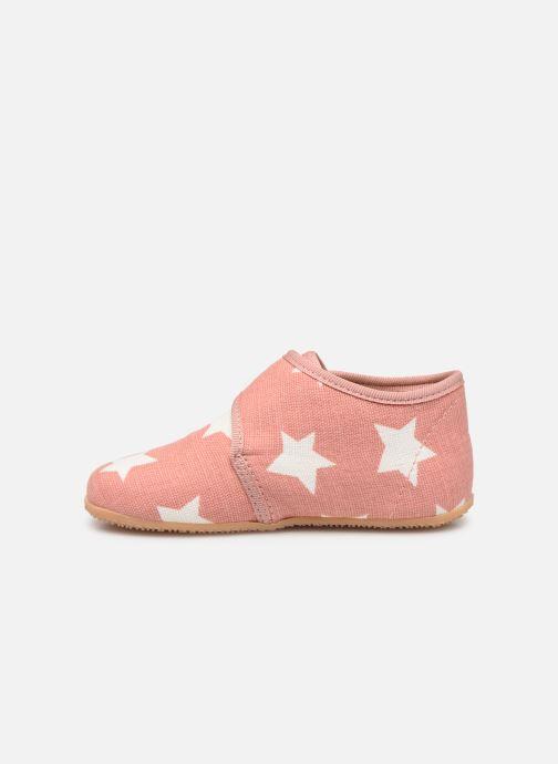 Pantoffels Living Kitzbühel Babyklett Sterne Roze voorkant