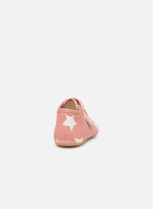 Pantoffels Living Kitzbühel Babyklett Sterne Roze rechts