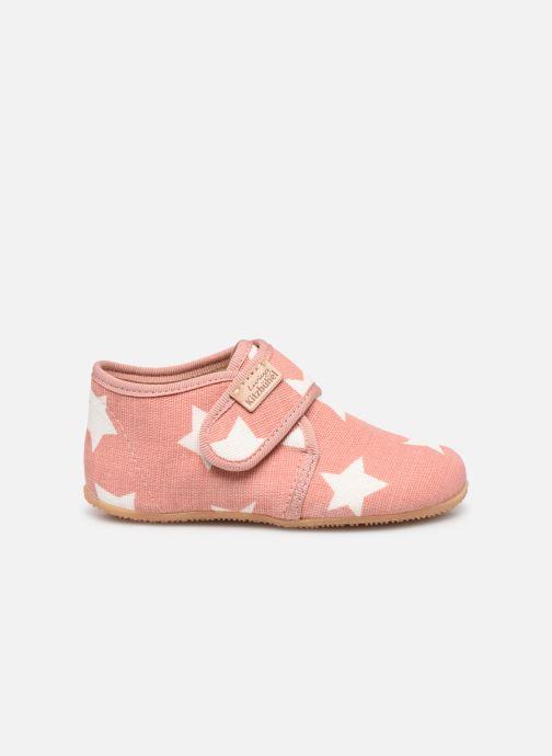 Pantoffels Living Kitzbühel Babyklett Sterne Roze achterkant