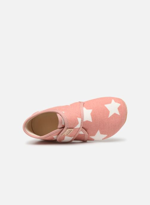 Pantoffels Living Kitzbühel Babyklett Sterne Roze links