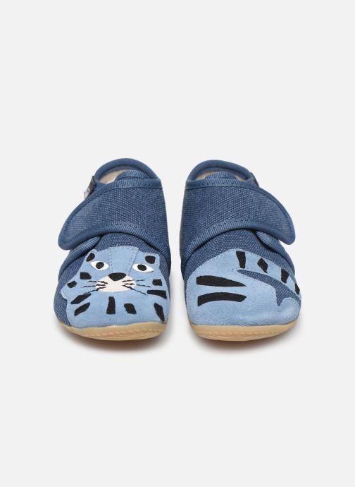 Chaussons Living Kitzbühel Babyklett Tiger Bleu vue portées chaussures