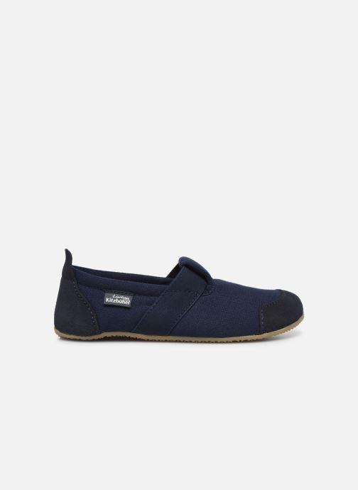 Hausschuhe Living Kitzbühel T-Modell Unifarben blau ansicht von hinten