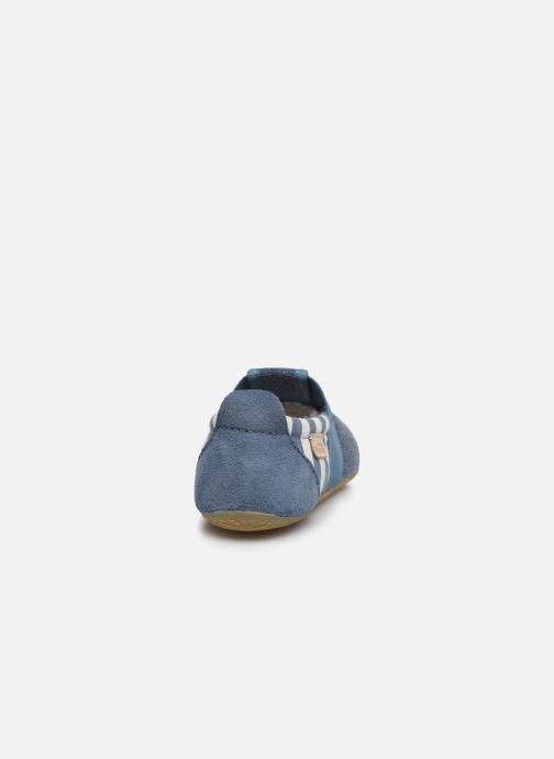 Chaussons Living Kitzbühel T-Modell Streifen und Stern Bleu vue droite