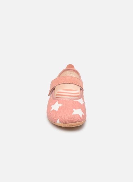 Chaussons Living Kitzbühel Ballerina Sterne Rose vue portées chaussures