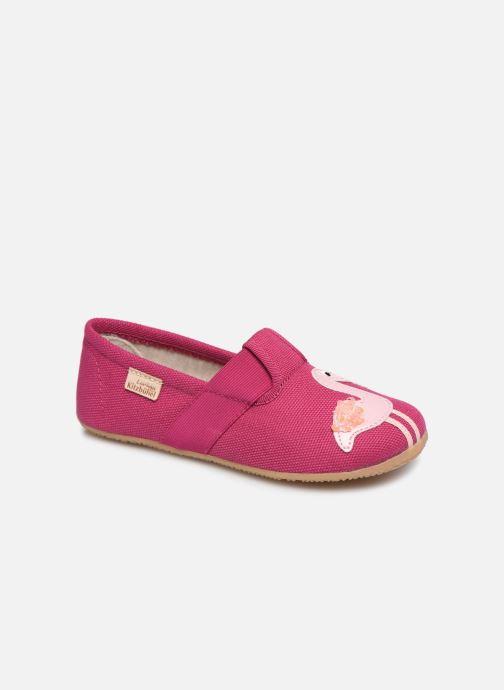 Chaussons Living Kitzbühel T-Modell Flamingo & Palme Rose vue détail/paire