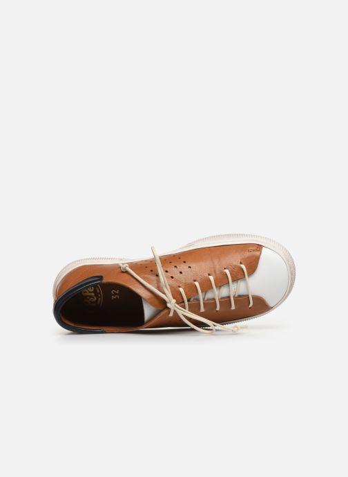 Sneakers PèPè Baskets-Nevada Tabacco Marrone immagine sinistra