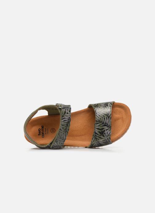 Sandali e scarpe aperte PèPè Sandales-Jungle Verde immagine sinistra