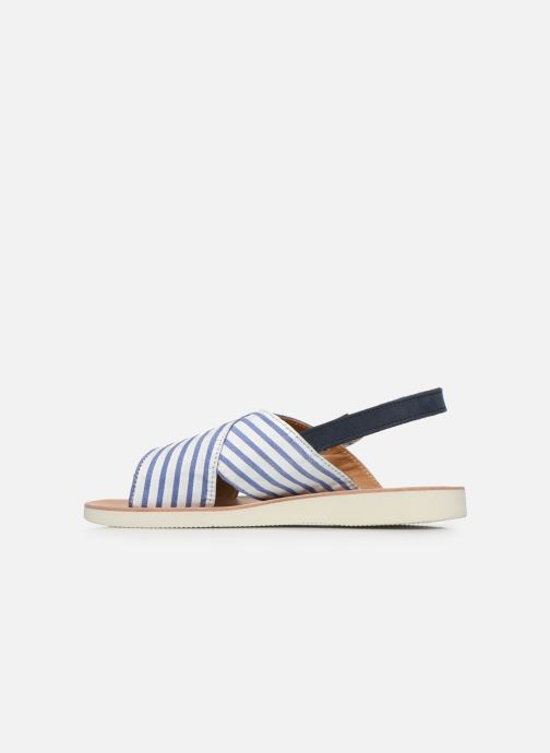 Sandali e scarpe aperte PèPè Sandales-Nappa Stripes Fiordo Bianco immagine frontale