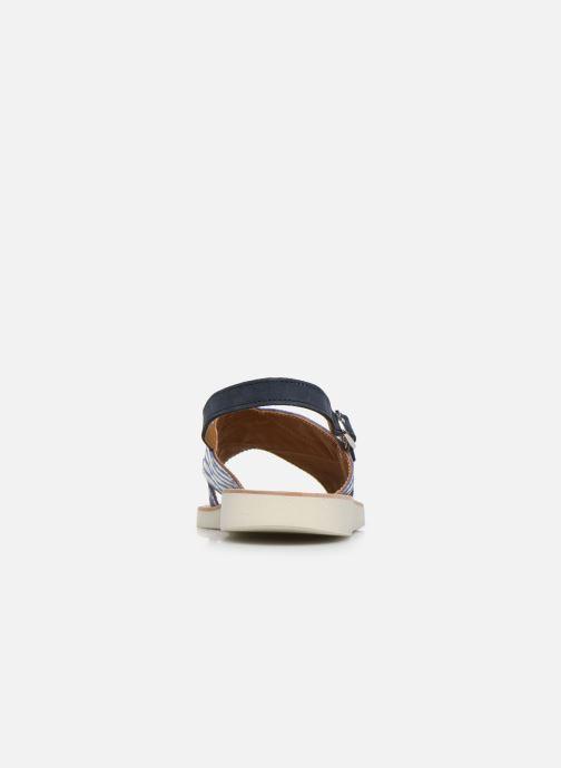 Sandali e scarpe aperte PèPè Sandales-Nappa Stripes Fiordo Bianco immagine destra