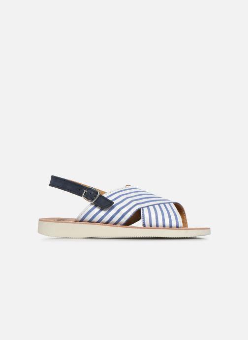 Sandales et nu-pieds PèPè Sandales-Nappa Stripes Fiordo Blanc vue derrière