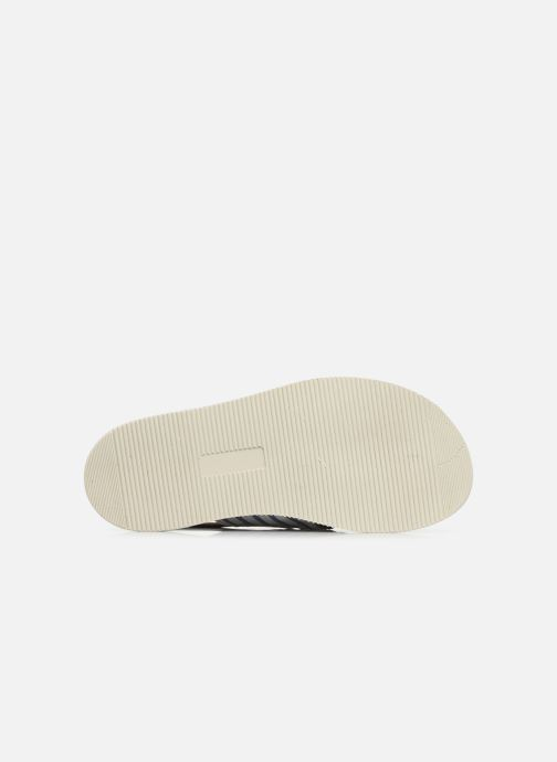 Sandales et nu-pieds PèPè Sandales-Nappa Stripes Fiordo Blanc vue haut