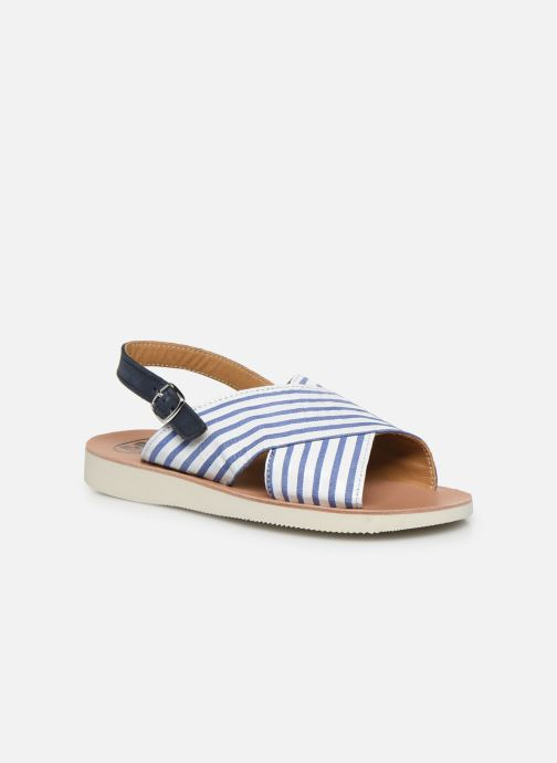 Sandales et nu-pieds PèPè Sandales-Nappa Stripes Fiordo Blanc vue détail/paire