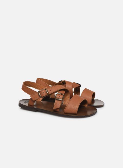 Sandales et nu-pieds PèPè Sandales-Kava Brown Marron vue 3/4