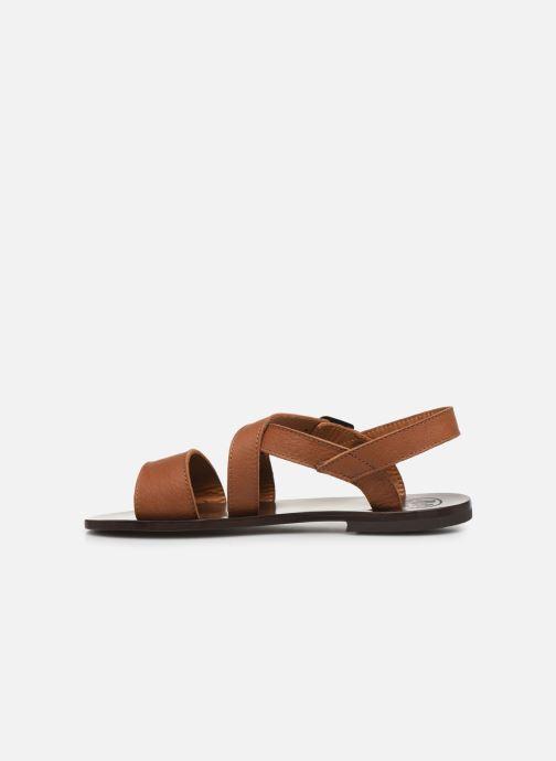 Sandales et nu-pieds PèPè Sandales-Kava Brown Marron vue face