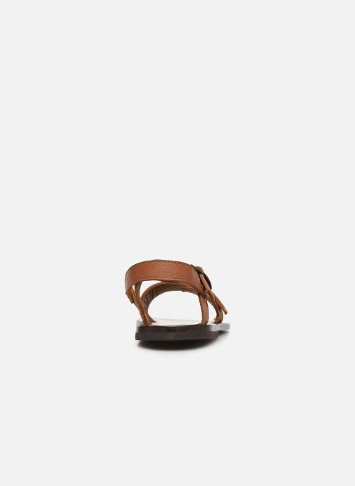 Sandali e scarpe aperte PèPè Sandales-Kava Brown Marrone immagine destra