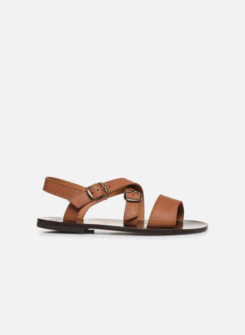 Sandales et nu-pieds PèPè Sandales-Kava Brown Marron vue derrière