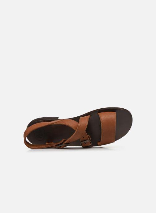 Sandales et nu-pieds PèPè Sandales-Kava Brown Marron vue gauche