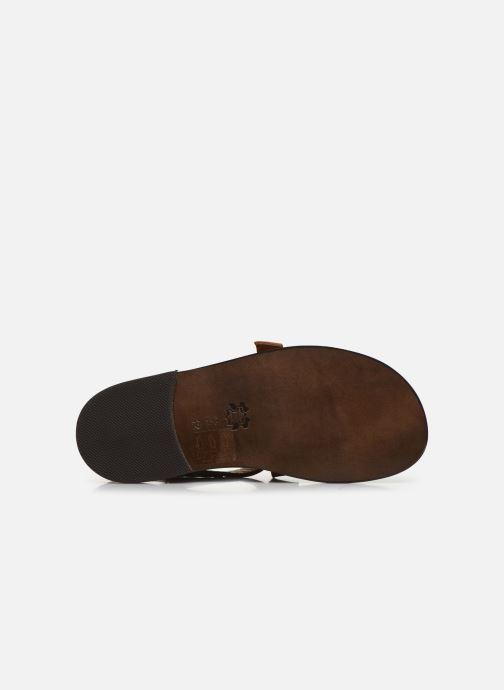 Sandali e scarpe aperte PèPè Sandales-Kava Brown Marrone immagine dall'alto