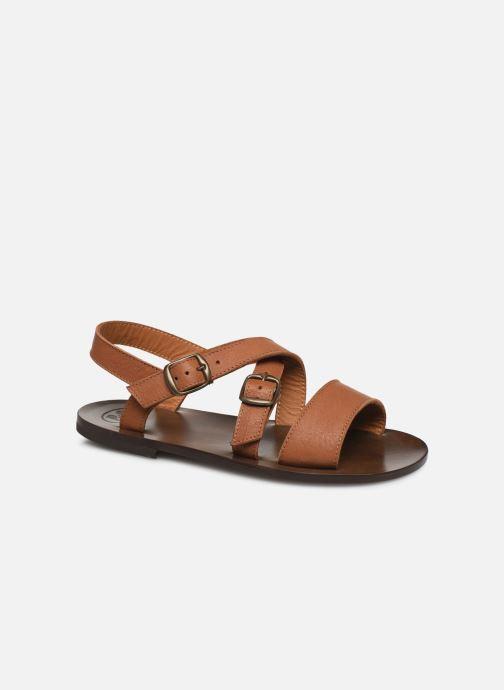 Sandales et nu-pieds PèPè Sandales-Kava Brown Marron vue détail/paire