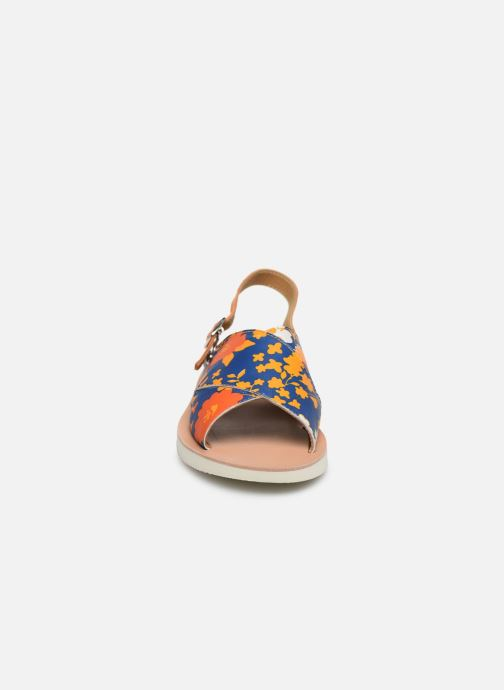 Sandalen PèPè Sandales-Heritage Fiori Arancio blau schuhe getragen