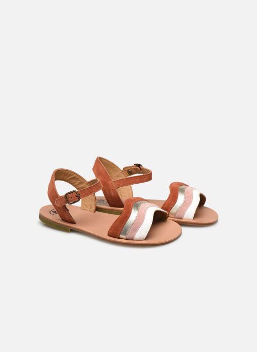 Sandales et nu-pieds PèPè Sandales-Terra/Oro/Confetto Multicolore vue 3/4