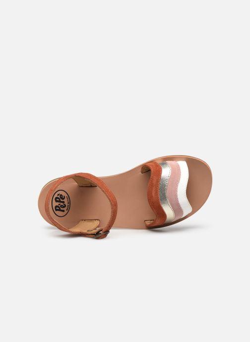 Sandali e scarpe aperte PèPè Sandales-Terra/Oro/Confetto Multicolore immagine sinistra