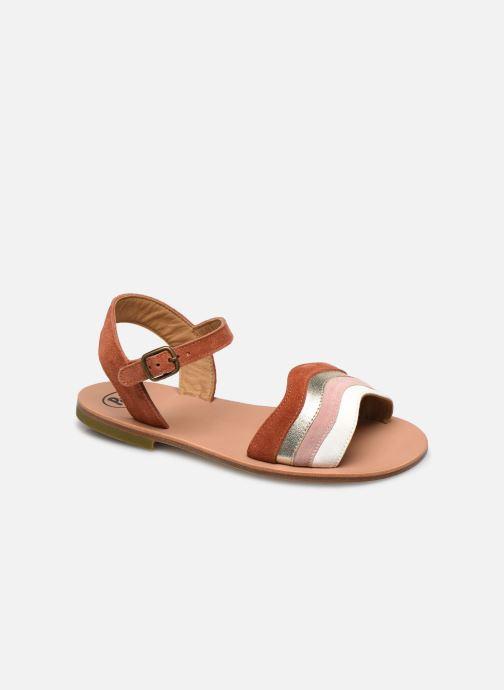 Sandales et nu-pieds PèPè Sandales-Terra/Oro/Confetto Multicolore vue détail/paire