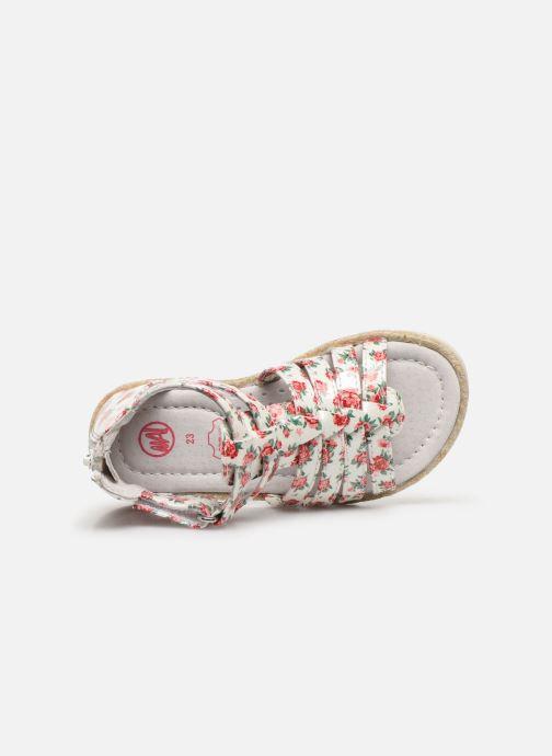 Sandales et nu-pieds NA! Adelina Blanc vue gauche
