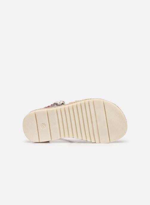 Sandales et nu-pieds NA! Adelina Blanc vue haut