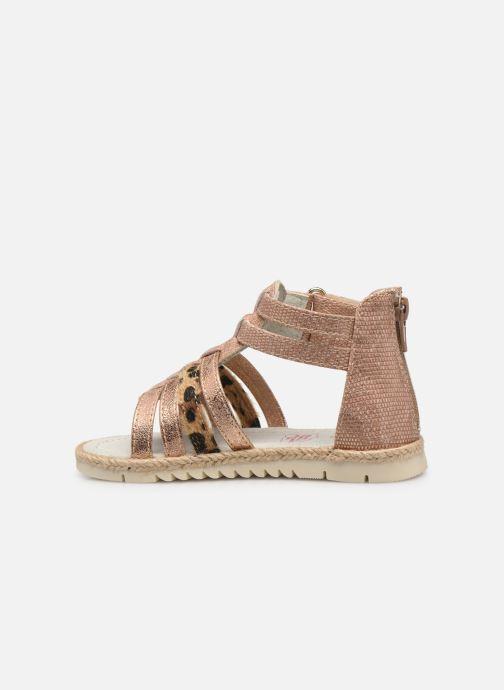 Sandales et nu-pieds NA! Adelina Or et bronze vue face