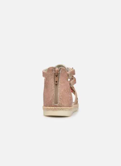 Sandales et nu-pieds NA! Adelina Or et bronze vue droite